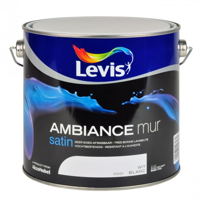 Levis ambiance satin verf for Peinture acrylique pour mur interieur