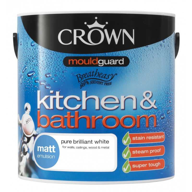 Peinture l 39 eau pour cuisine et salle de bain for Peinture cuisine et bain
