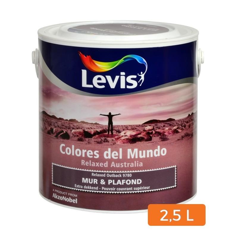 peinture levis colores del mundo mur et plafond 2 5 l. Black Bedroom Furniture Sets. Home Design Ideas