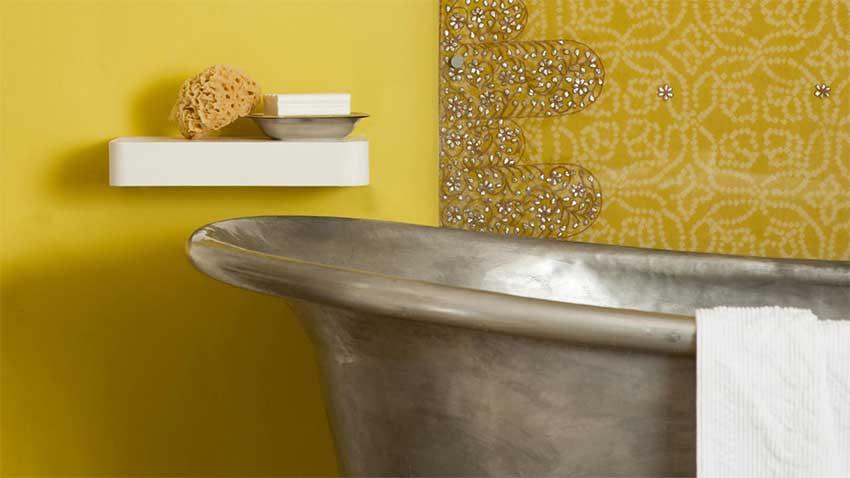 meuble de salle de bain roulette rose On idà e couleur salle de bain
