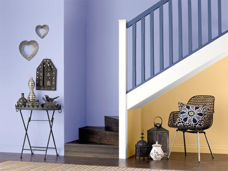 Couleurs pour hall d 39 entr e et couloir painttrade - Peindre un couloir en 2 couleurs ...