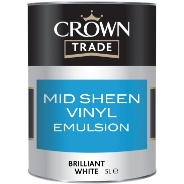 Crown Trade Mid Sheen Vinyl verf