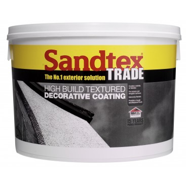 Sandtex High Build Textured decorative coating Blanc 15Kg