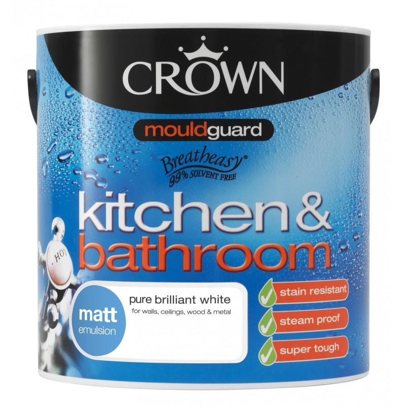 Peinture l 39 eau pour cuisine et salle de bain - Peinture anti humidite pour salle de bain ...