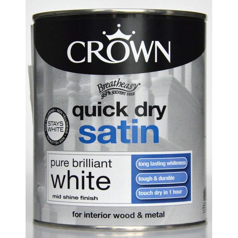 peinture blanche satin e quick dry pour bois et m tal int rieur. Black Bedroom Furniture Sets. Home Design Ideas