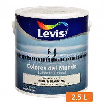peinture levis colores del mundo mur et plafond 2 5 l. Black Bedroom Furniture Sets. Home Design Ideas