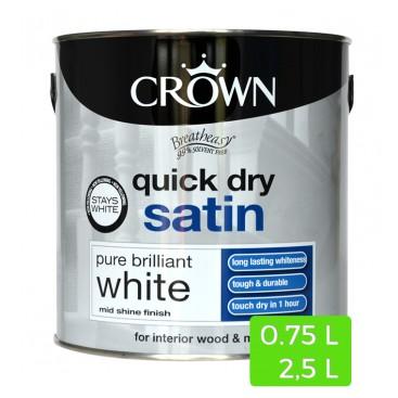Witte satijnverf Quick Dry voor binnenshuis hout en metaal
