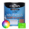 Peinture murale mate pour cuisine et salle de bains 2.5L