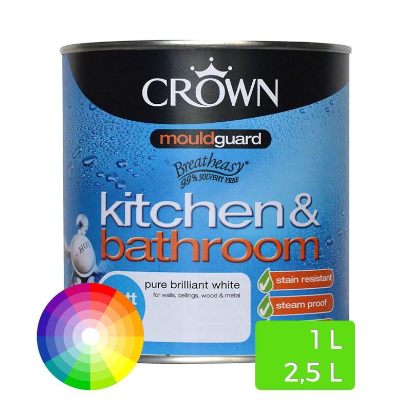 Peinture l 39 eau pour cuisine et salle de bain - Peinture brillante pour cuisine ...