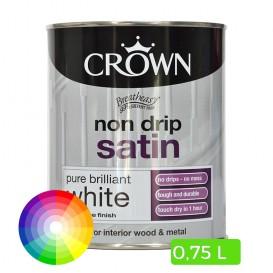 Peinture satinée pour bois et métal 0.75 L