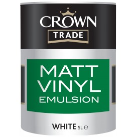 Peinture Crown Trade Matt Vinyl Emulsion Blanc