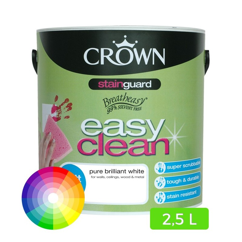 Peinture murale lavable easy clean 2 5l for Peinture acrylique murale lavable