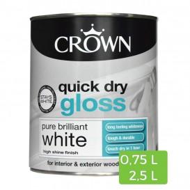 Peinture blanche brillante Quick Dry pour bois et métal intérieur