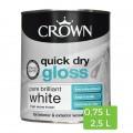 Witte glanzende verf Quick Dry voor binnenshuis hout en metaal