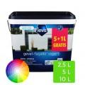 Peinture Levis murs extérieurs blanc 5L+1L gratuit