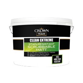 Clean Extreme afwasbare matte verf wit 10L