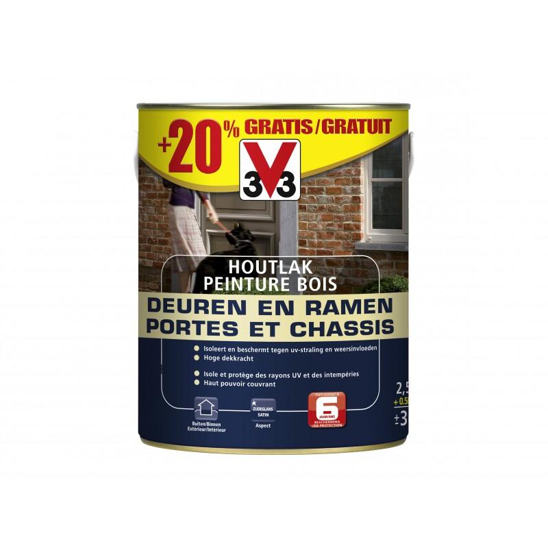 Peinture Blanche Pour Portes Et Chassis En Bois V33 2 5l