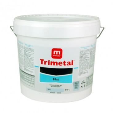 Trimetal mat muurverf 10L wit