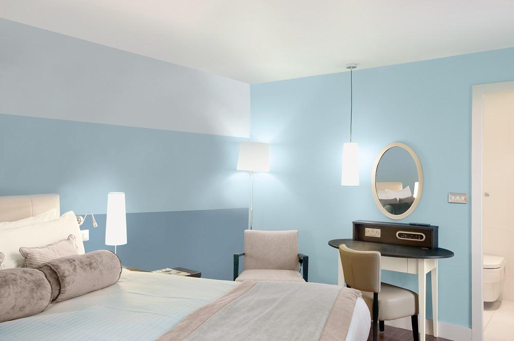 chambre a coucher bleu
