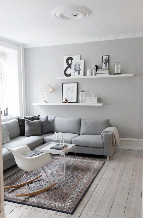 murs gris salon