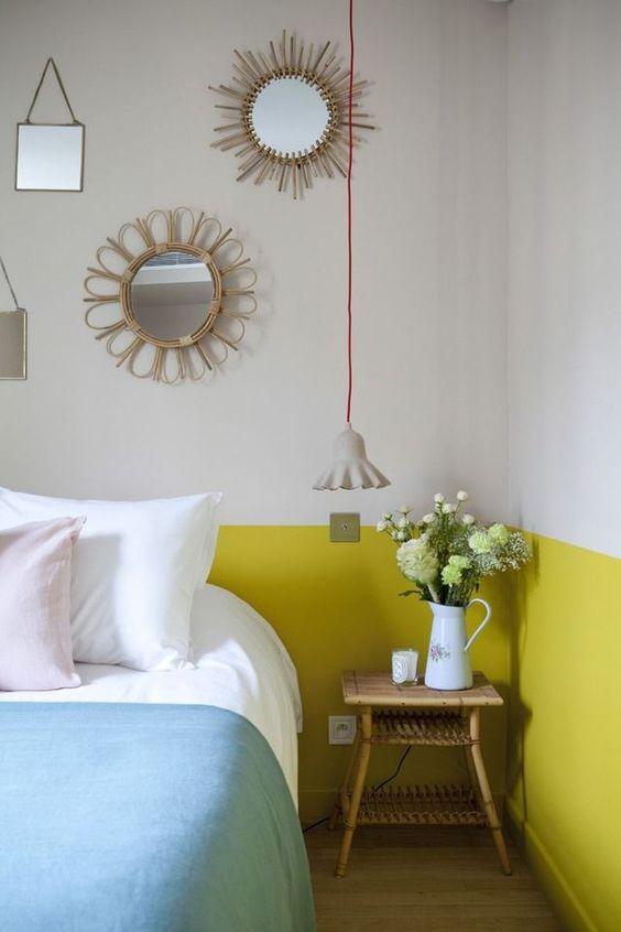 slaapkamer-decoratie-gele-muren