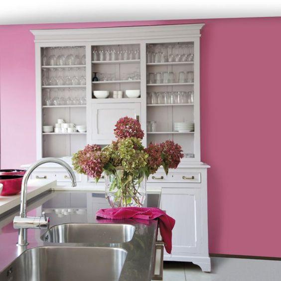 keuken-kleuren-muren-roze