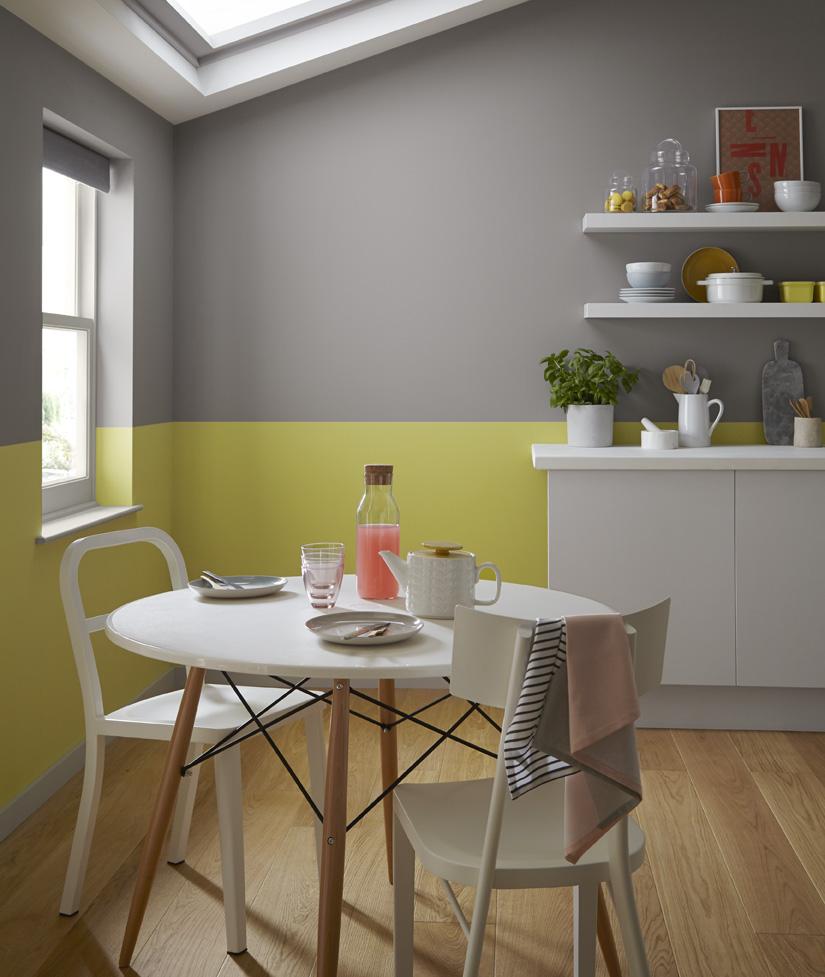 Id es couleurs murales pour la cuisine painttrade for Deco cuisine levis