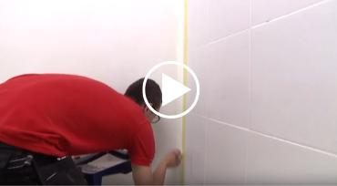 peindre un mur de douche