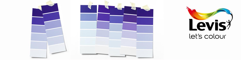 Levis kleurenwaaier paars