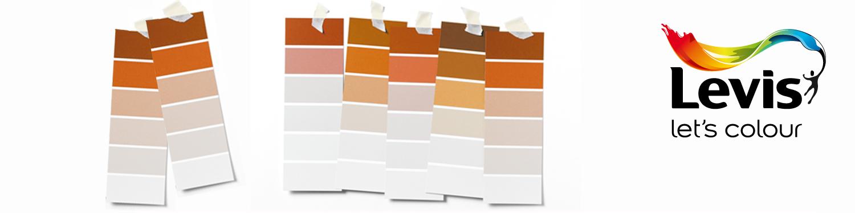 Levis kleurenwaaier oranje