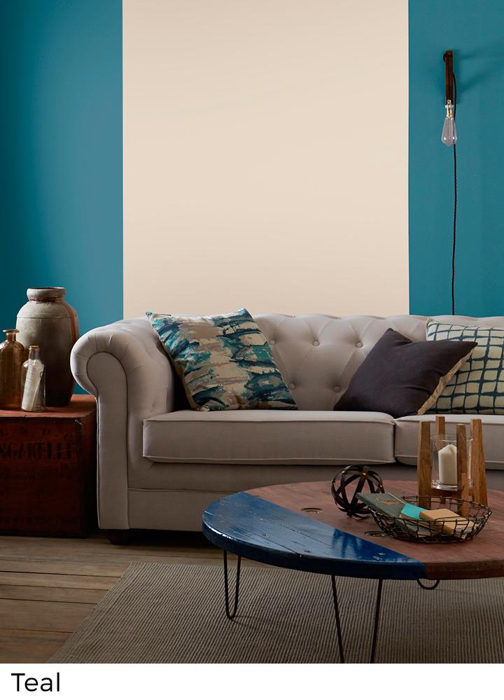 Blauwe verfkleuren voor interieur decoratie painttrade for Interieur verfkleuren