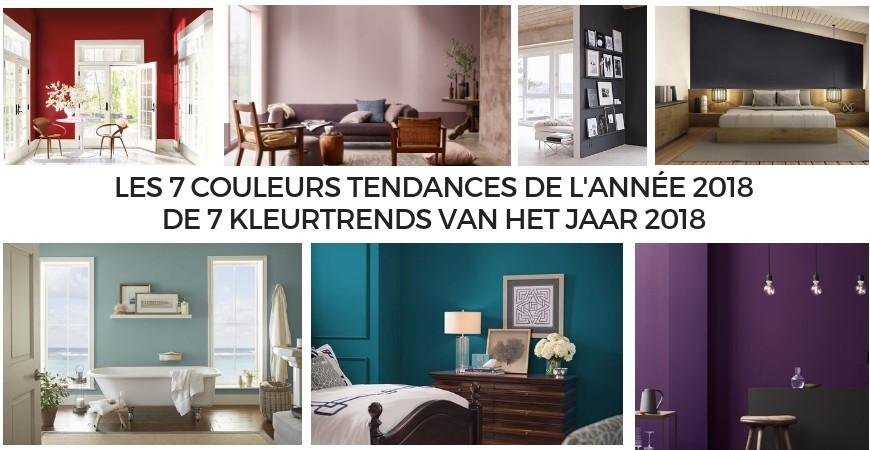 Interieur verftinten: de 7 kleurtrends van het jaar 2018