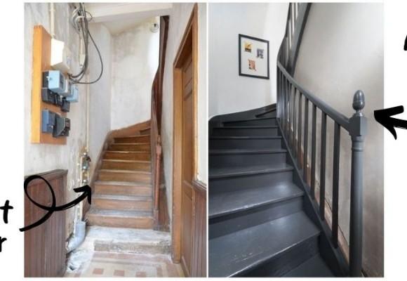 Een gerenoveerde oude trap vol charme